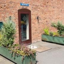 office-reception door